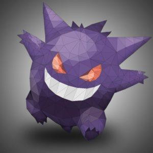 download Gengar, Pokémon, Low poly HD Wallpapers / Desktop and Mobile …