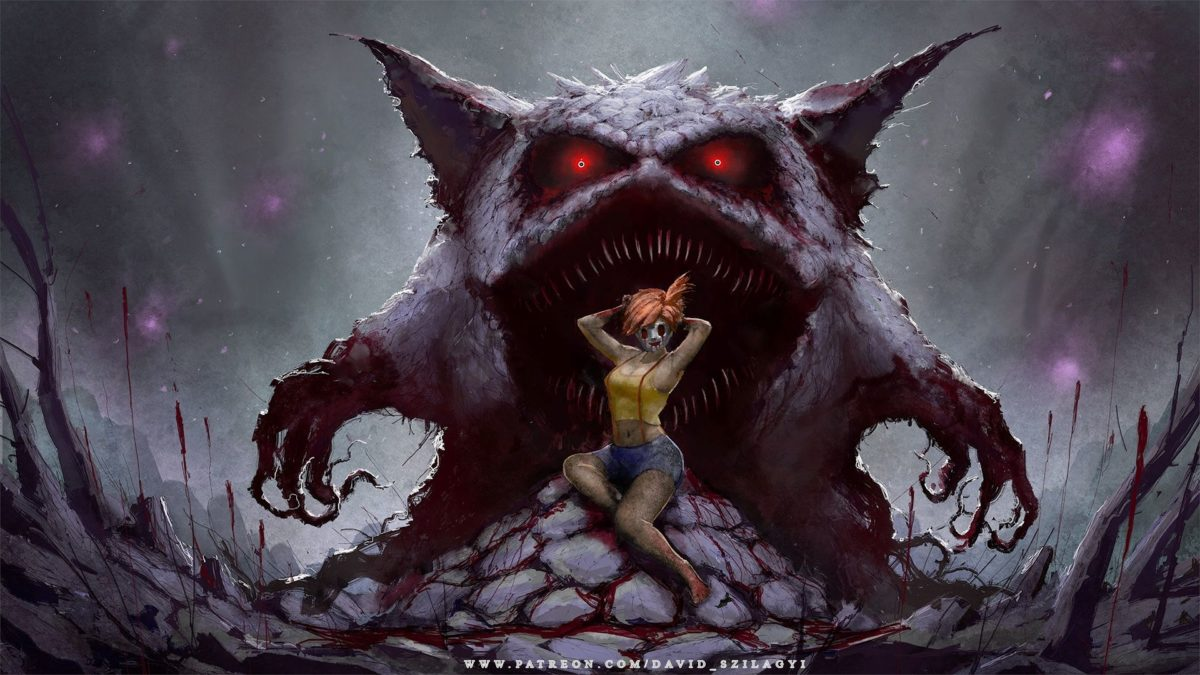 For My Fans! Misty Gengar Creepy Pinup Wallpaper (1920x1080p …