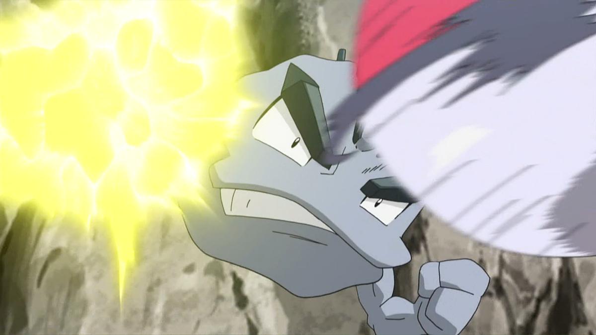 Image – Geodude SM032 Thunder Punch.png | Pokémon Wiki | FANDOM …