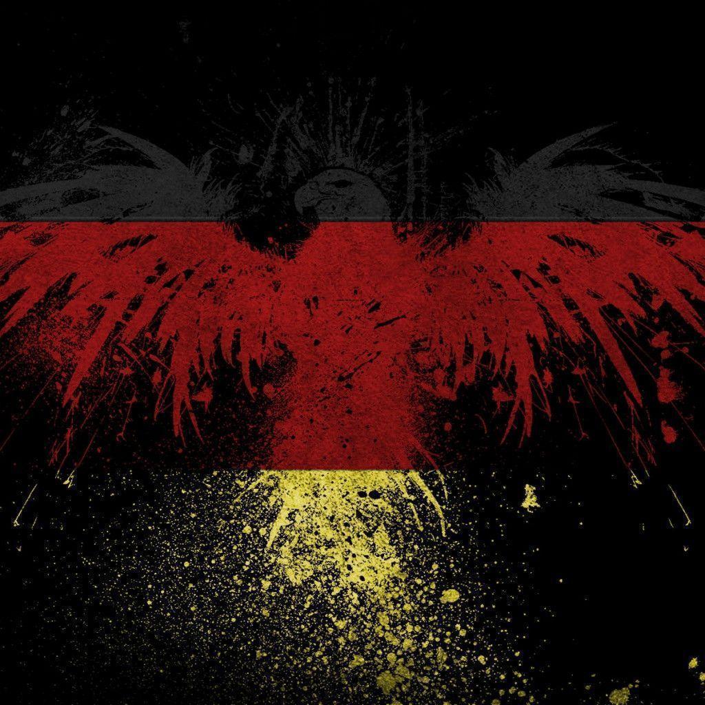 German Eagle Flag iPad 1 & 2 Wallpaper