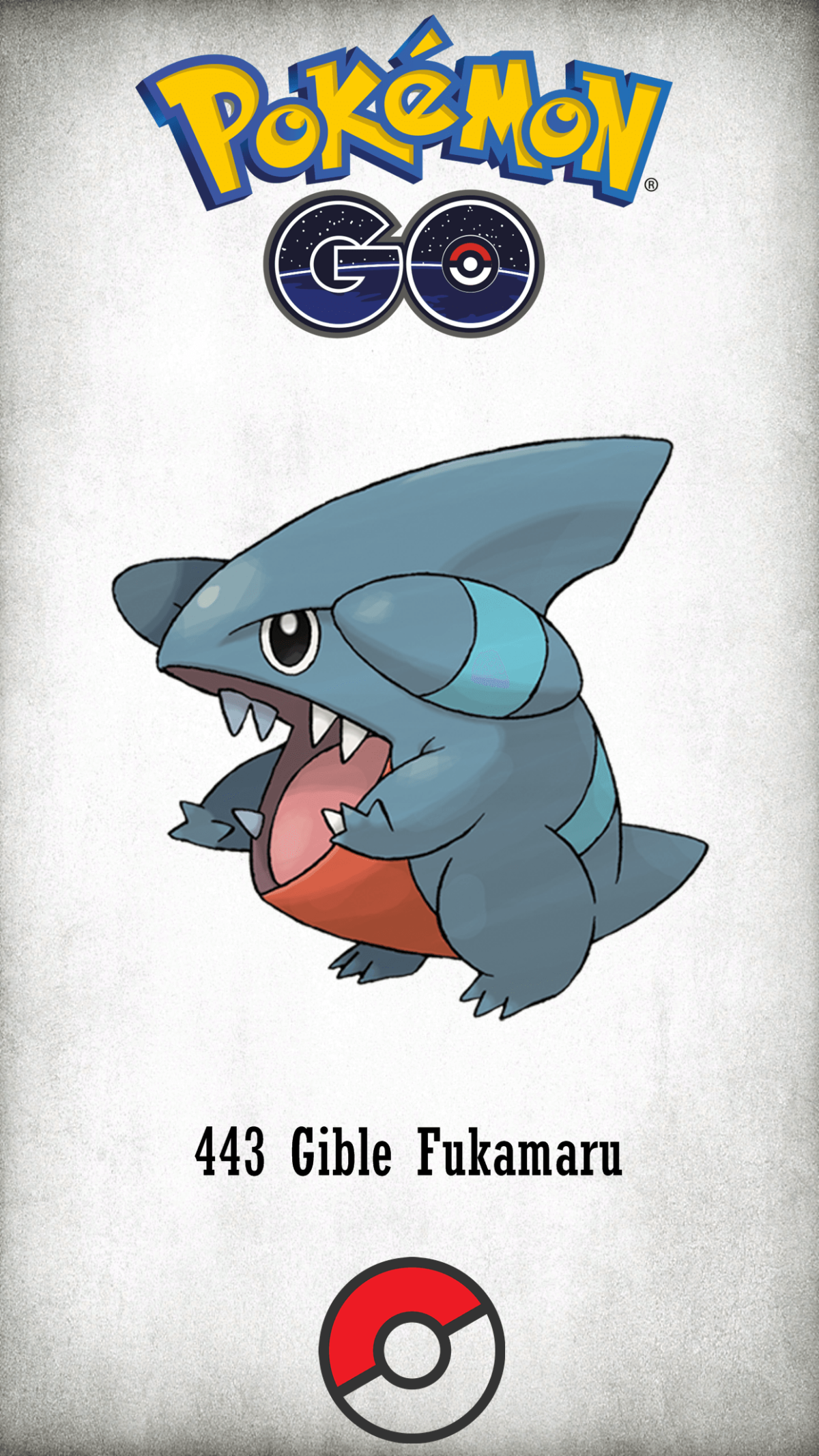 443 Character Gible Fukamaru | Wallpaper