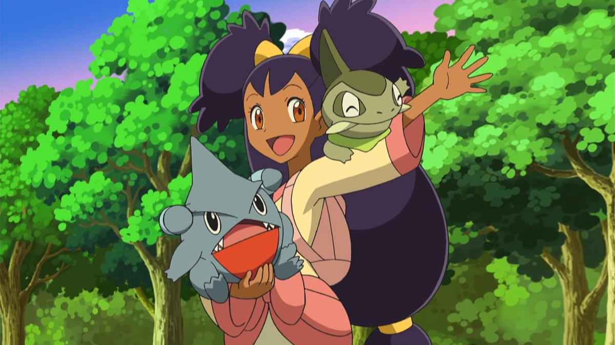 Image – Iris and Gible.png | Pokémon Wiki | FANDOM powered by Wikia