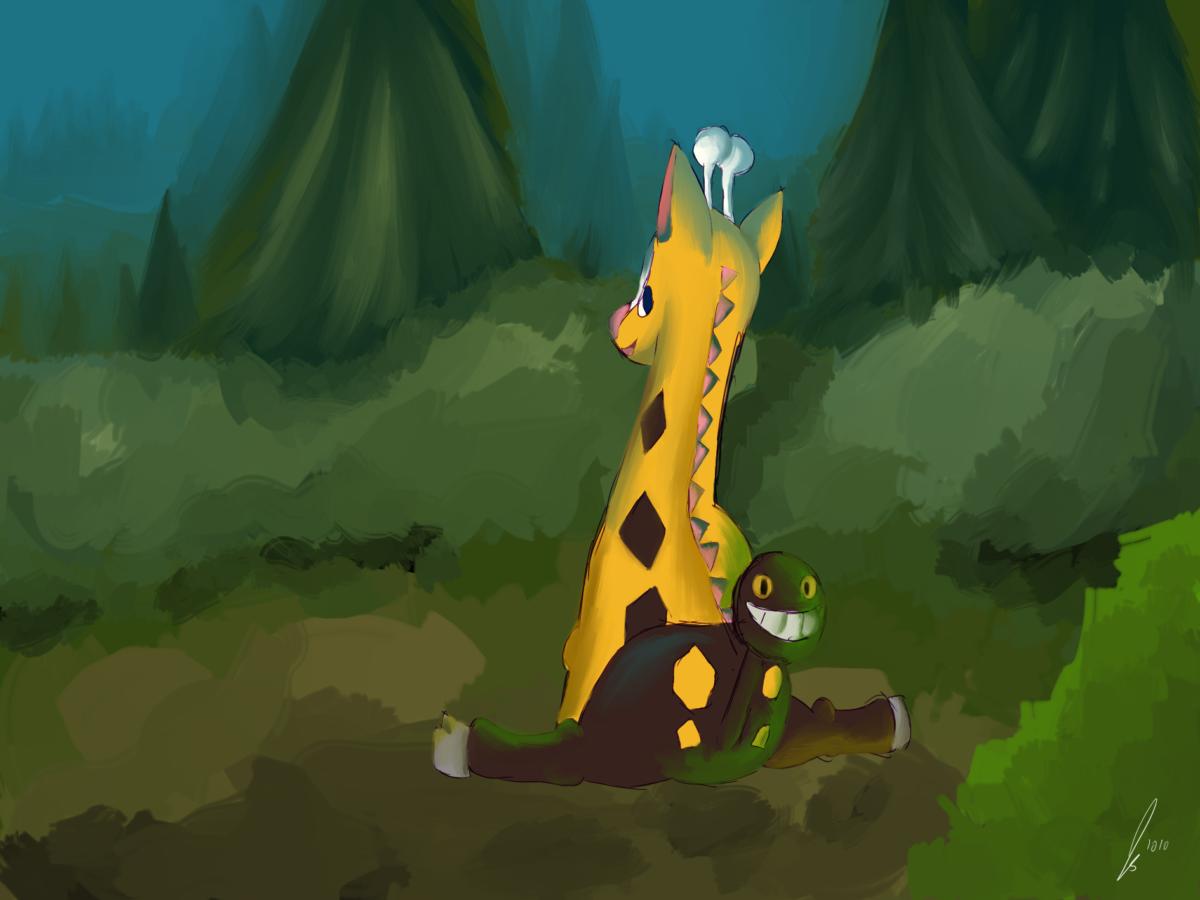 Girafarig by jaclynonacloud on DeviantArt