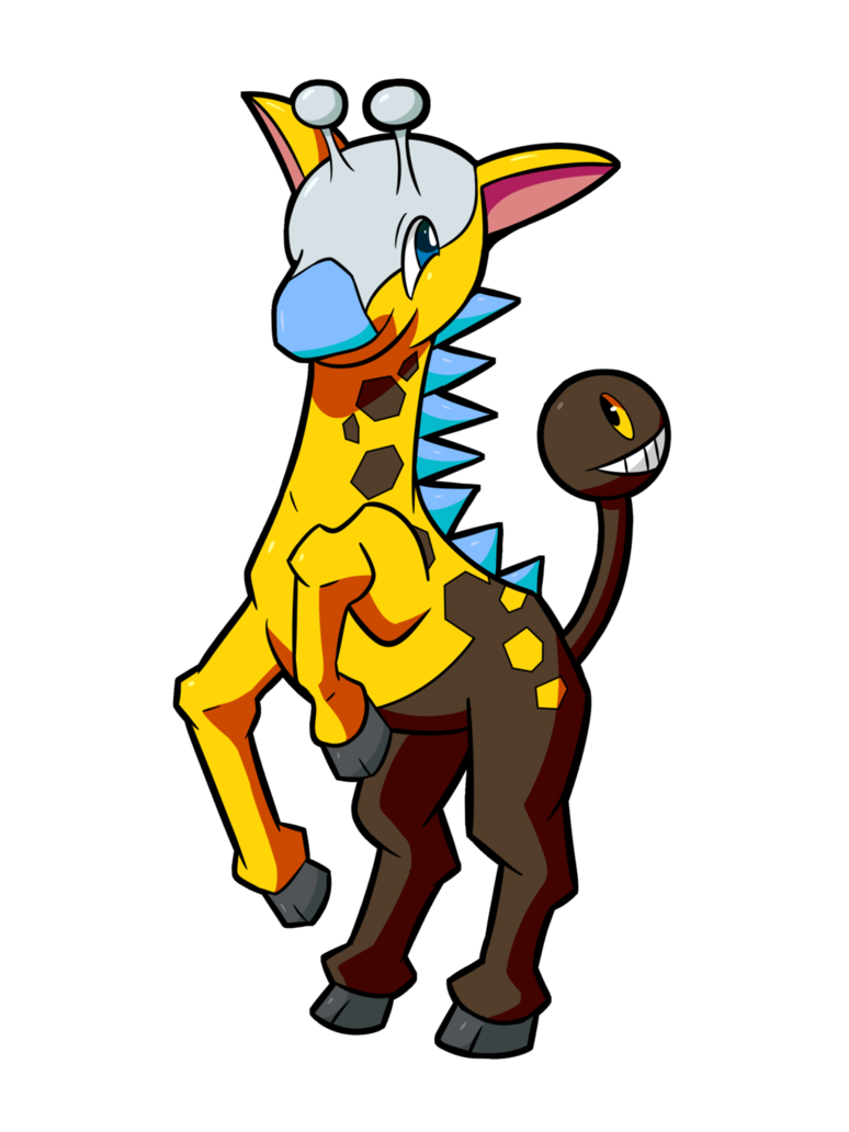 Psyched Up Collab: Shiny Girafarig by osarumon on DeviantArt