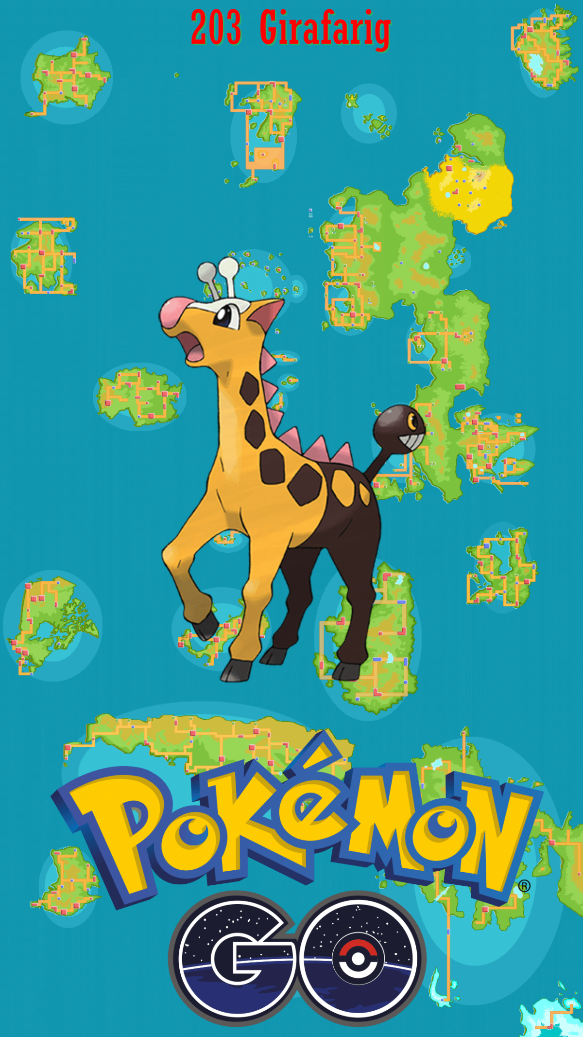 203 Street Map Girafarig   Wallpaper