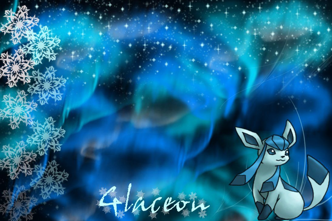 Glaceon Wallpaper by SlaveWolfy on DeviantArt