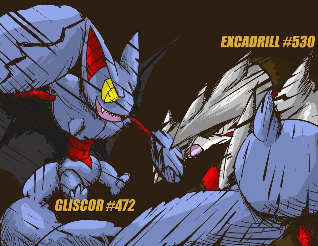 Gliscor and Excadrill by Capitan-Mark-Antony on DeviantArt