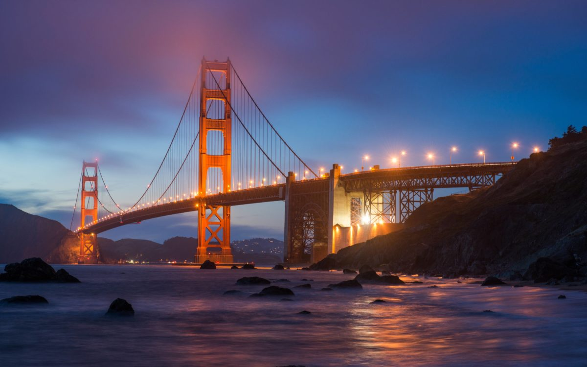 The Golden Gate Bridge View from Marshall Beach widescreen …