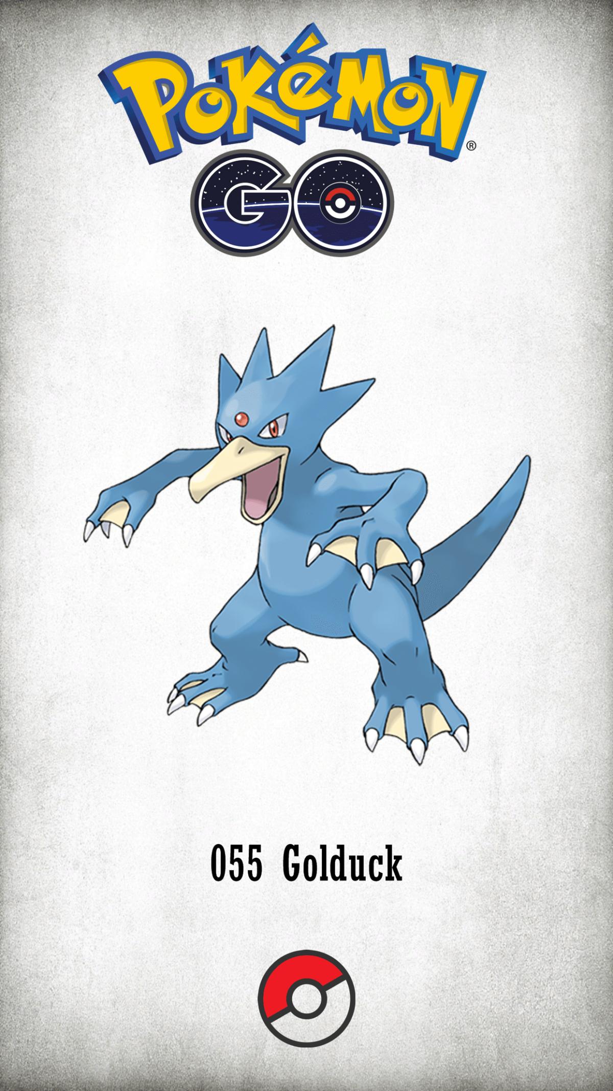 055 Character Golduck | Wallpaper