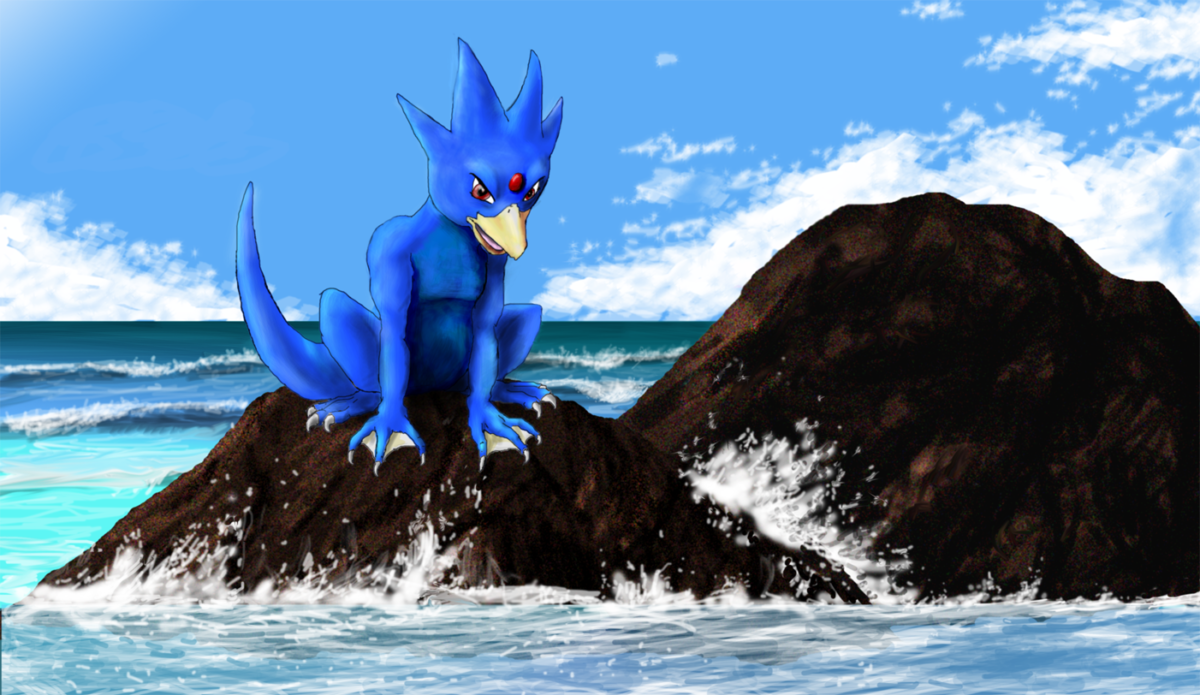 Sitting Golduck by Arbre on DeviantArt