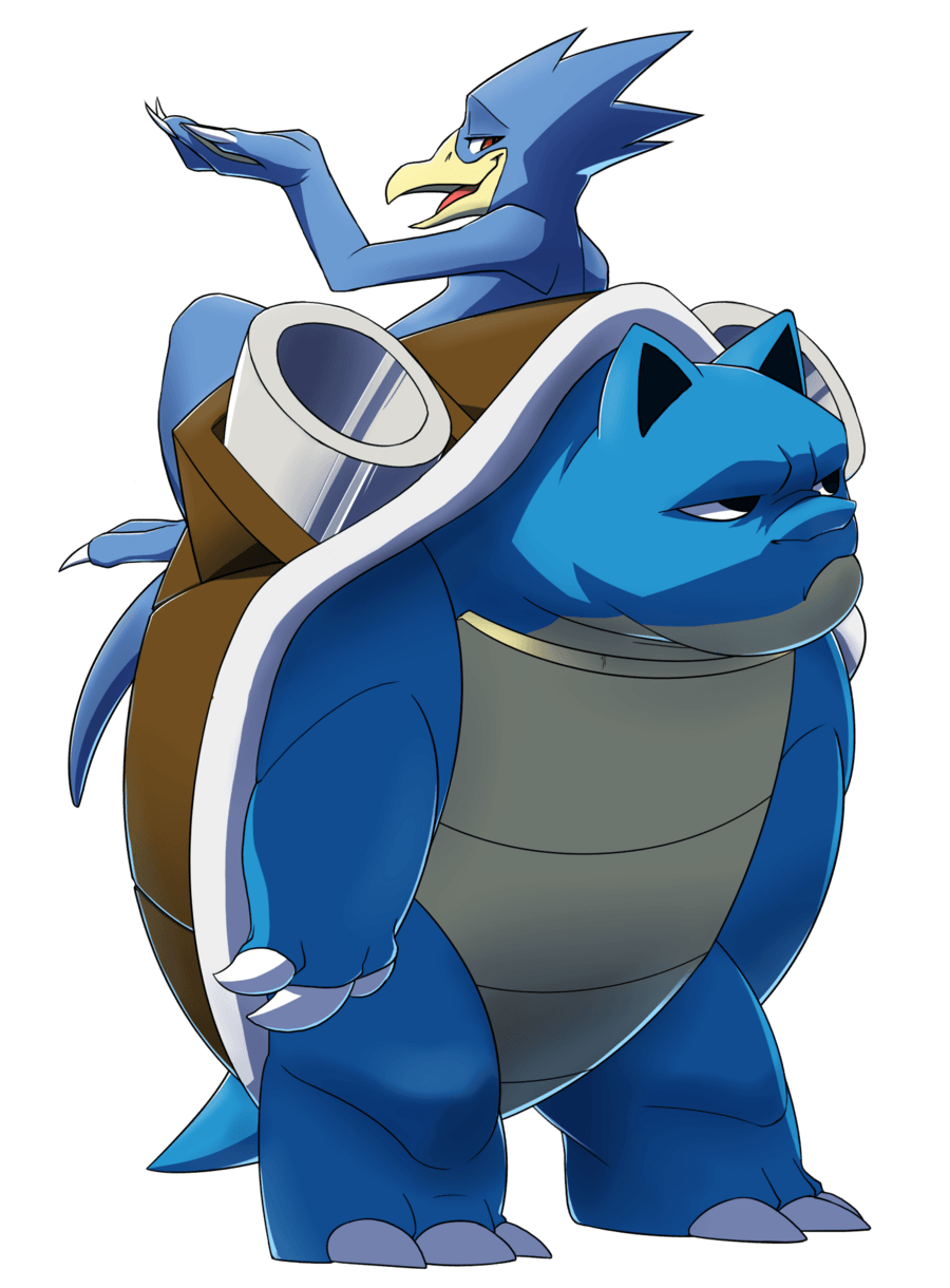 Pokeddex day 11: Golduck and Blastoise by Protocol00 on DeviantArt