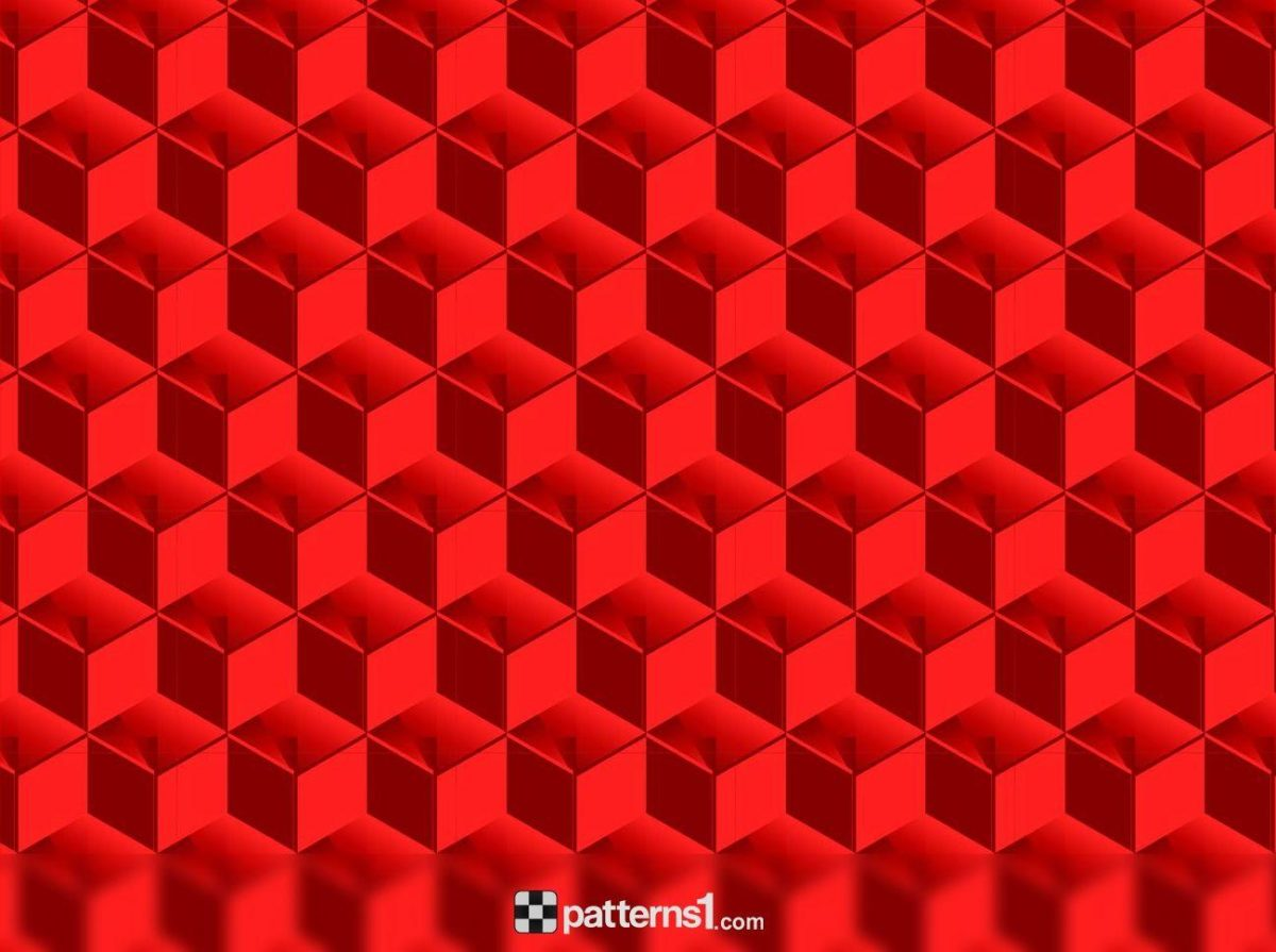 Abstract Red Cubes Patterns Background | Vector Pattern Design by …