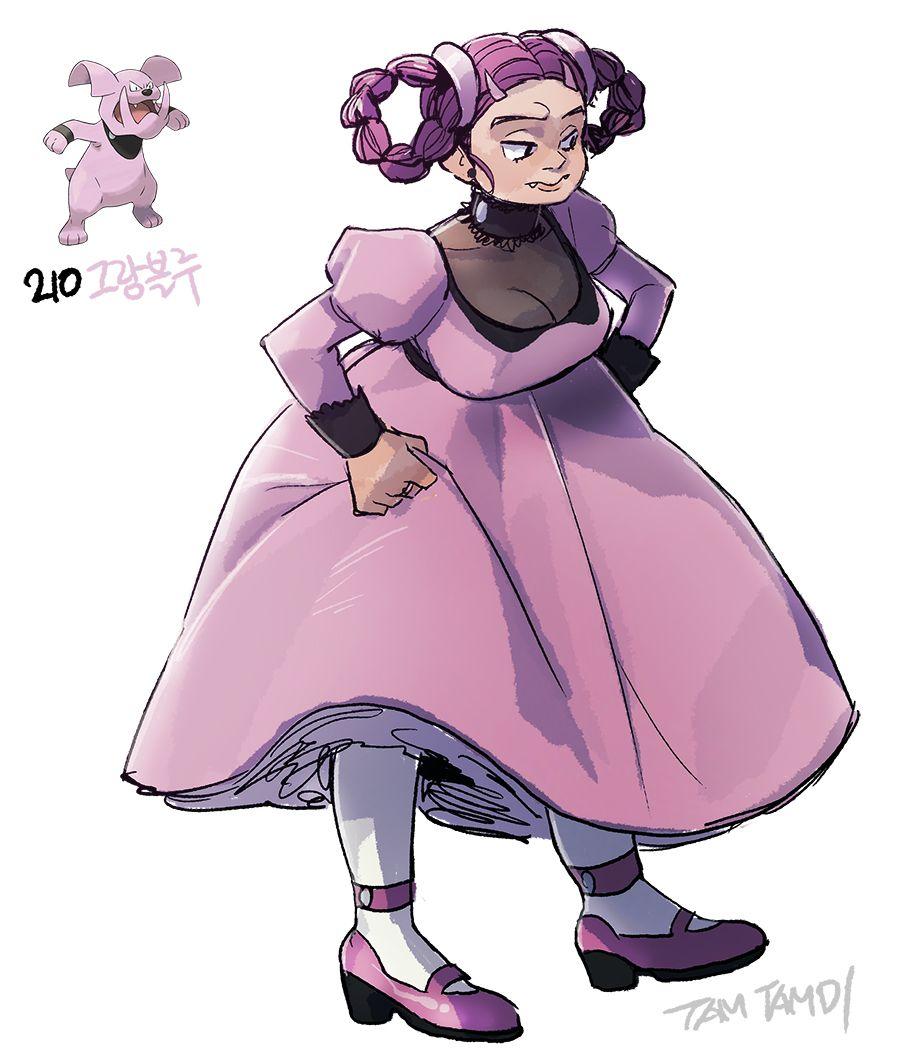Pokemon gijinka 209. 210. Snubbull Granbull | POKEMON | Pinterest …