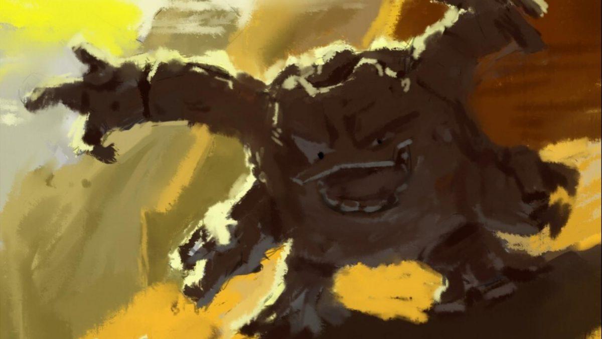 Nintendo pokemon mountains landscapes desert fan art graveler …