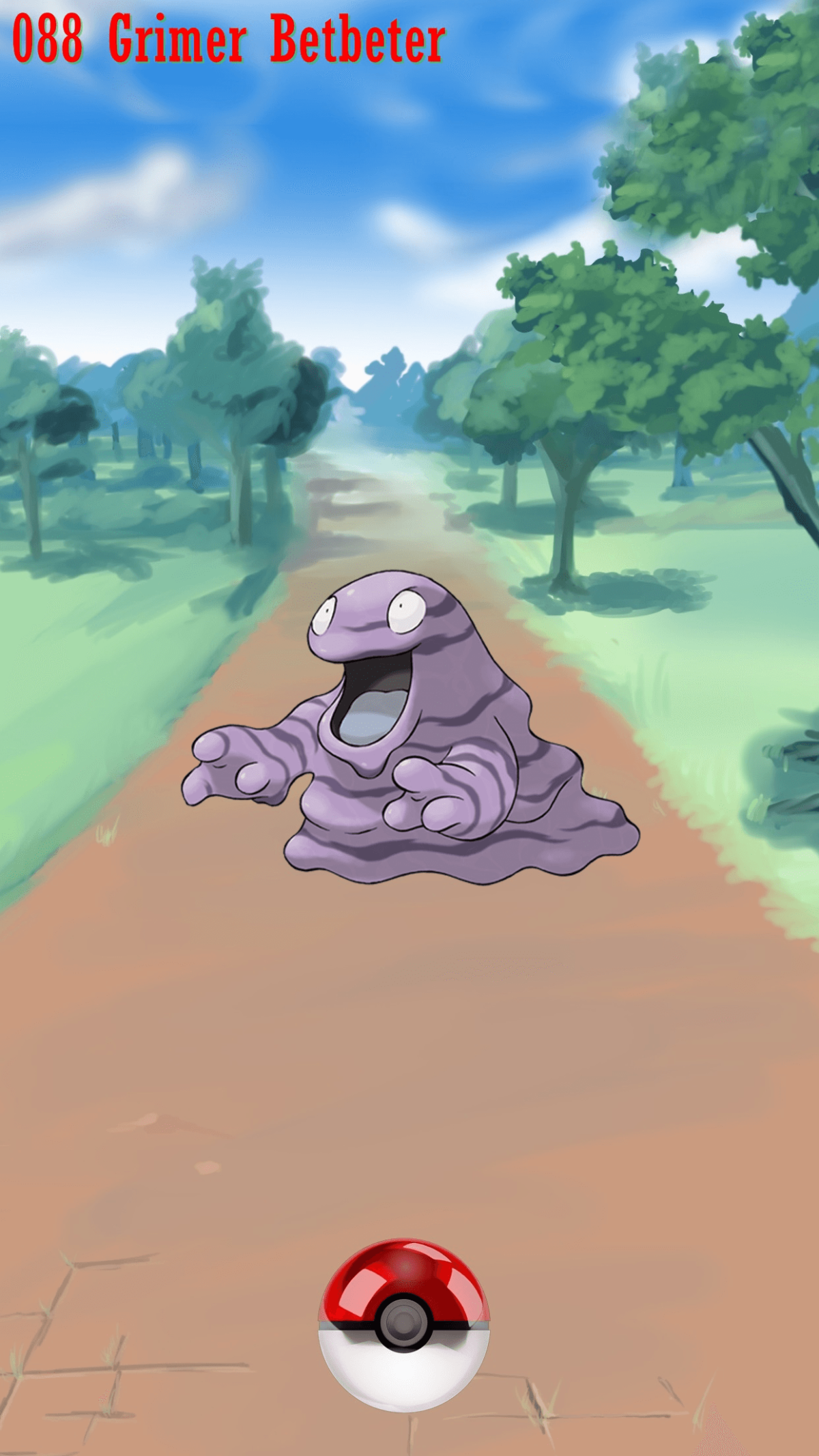 088 Street Pokeball Grimer Betbeter | Wallpaper