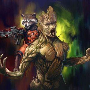 download Rocket and Groot Wallpaper – WallpaperSafari