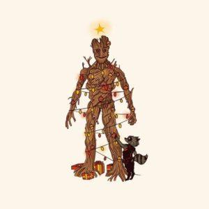 download Groot Christmas Tree (1920×1080) : wallpapers