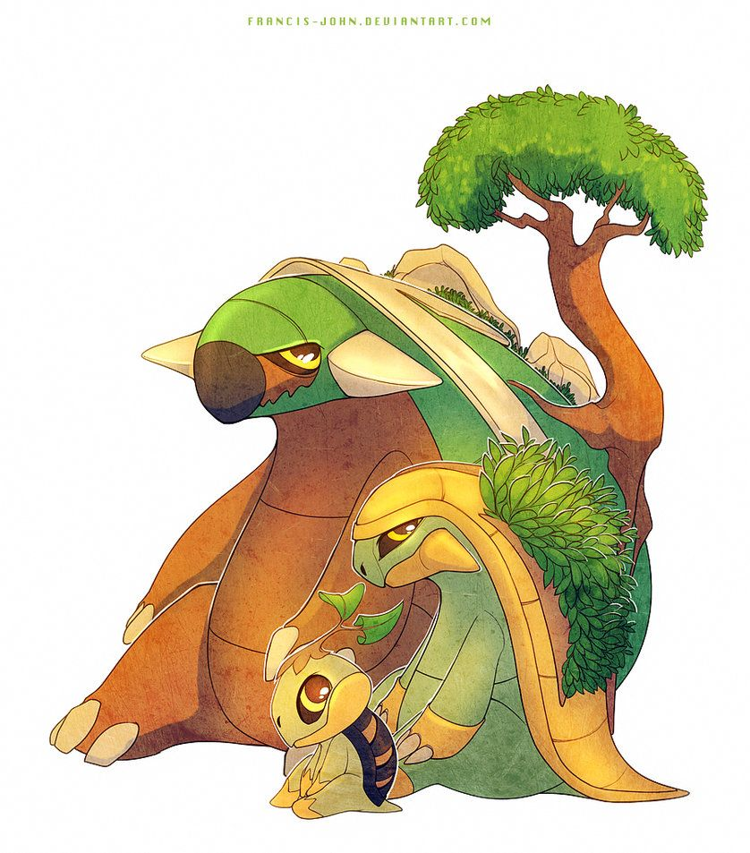 Turtwig Grotle and Torterra by francis-john on DeviantArt