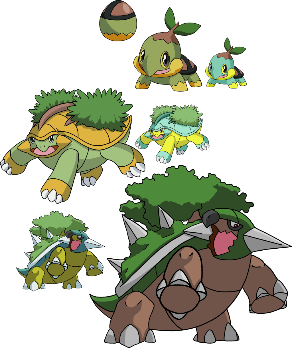 387, 388 and 389 – Turtwig Evolutionary Family by Tails19950 on …