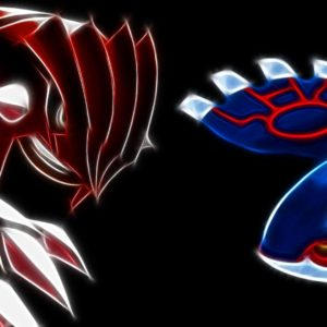 download Groudon vs Kyogre – Pokemon wallpaper #