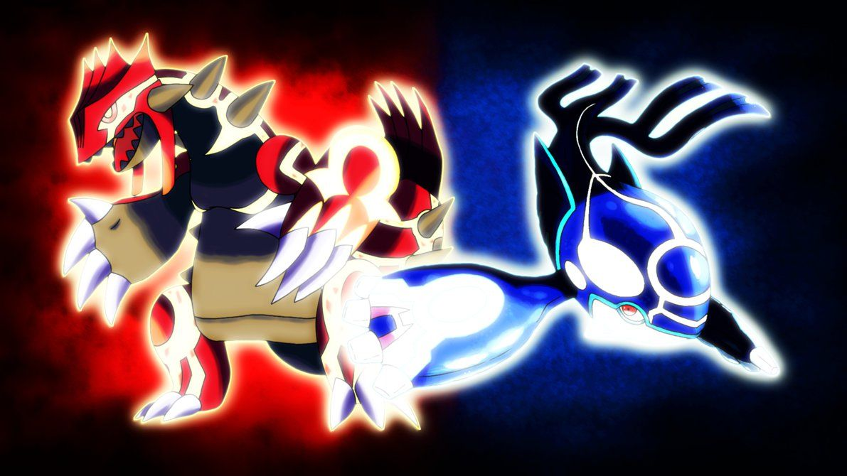 Primal Groudon and Primal Kyogre Wallpaper by Glench on DeviantArt