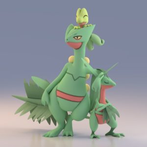 download Render of Sceptile, Grovyle, and Treeko using Pokemon X and Y …