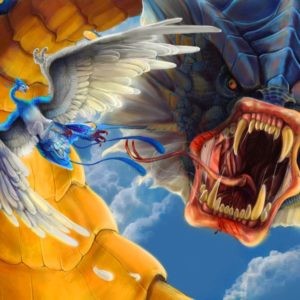 download pokemon, alternative art, Gyarados, Altaria :: Wallpapers