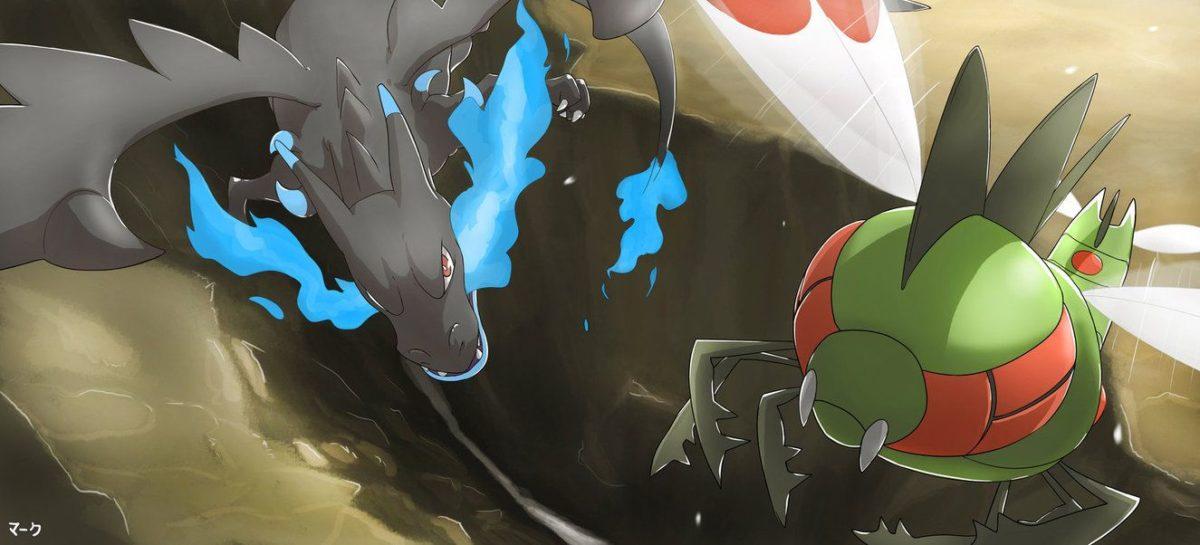 Pokemon Sky Battle: Mega Charizard X vs Yanmega by mark331 on DeviantArt