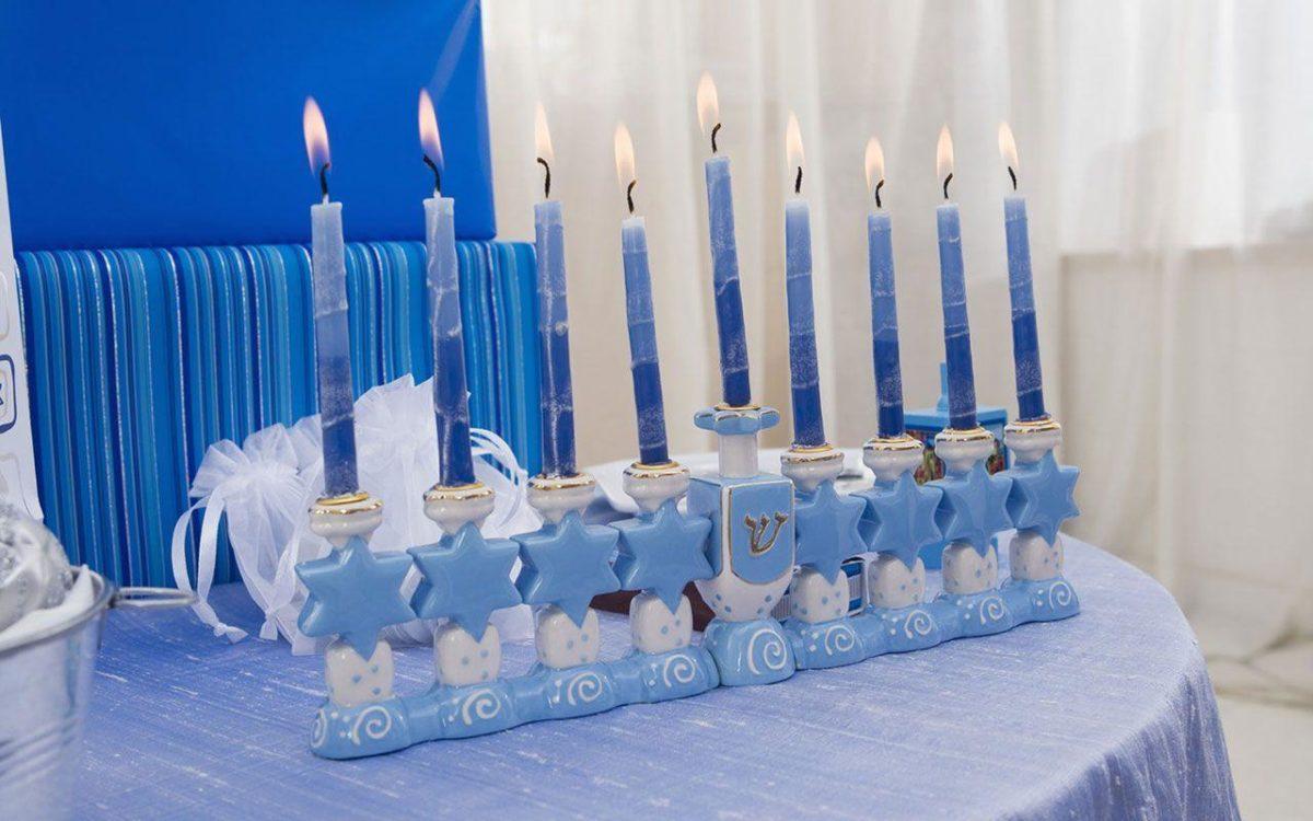 Hanukkah nine arm Candlestick desktop wallpaperman - Holiday …