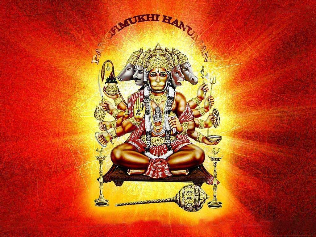 FREE Download Beautiful Panchmukhi Hanuman Wallpapers