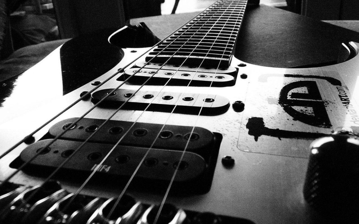 Black and White Electric Guitar DeviantArt.com Music Desktop HD …