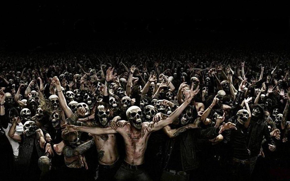 Pics For > Heavy Metal Skeleton Wallpaper