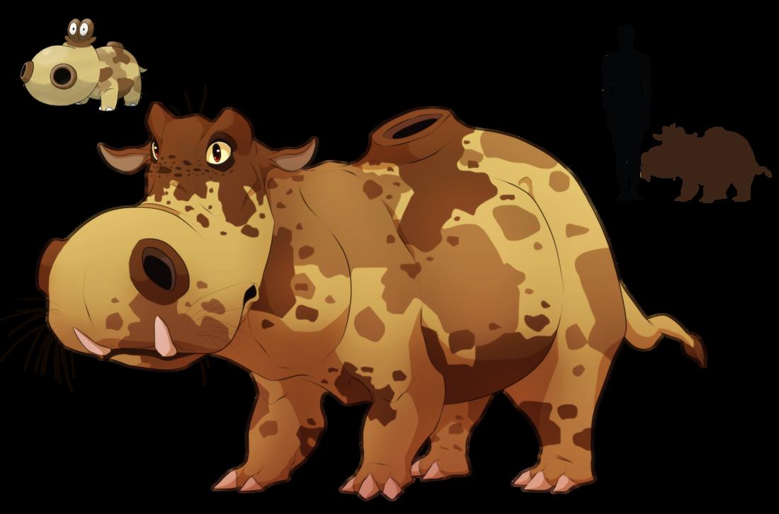 Hippopotas- Body full of sand by blueharuka on DeviantArt