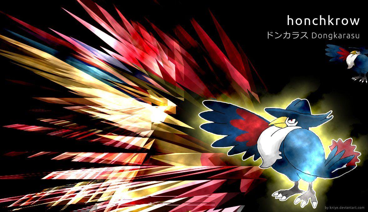 Pokemon – Honchkrow wallpaper by Kniye on DeviantArt
