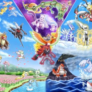 download Mew, Ho Oh Wallpapers HD / Desktop and Mobile Backgrounds