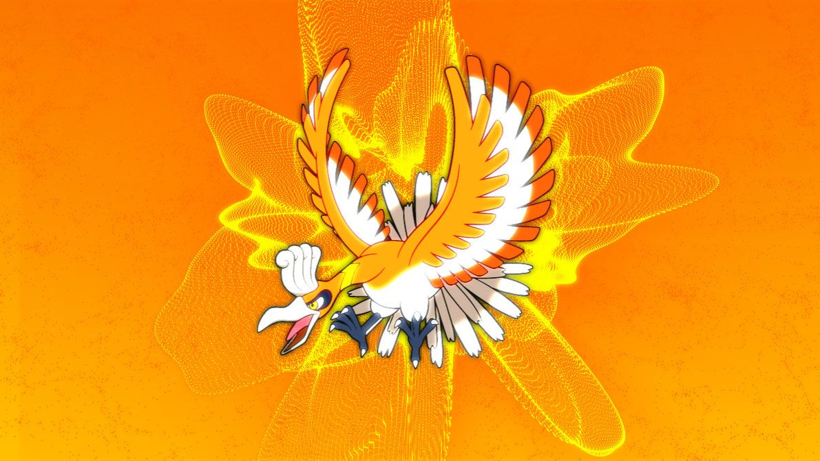 Shiny Ho-Oh Wallpaper by VoltPon3 on DeviantArt