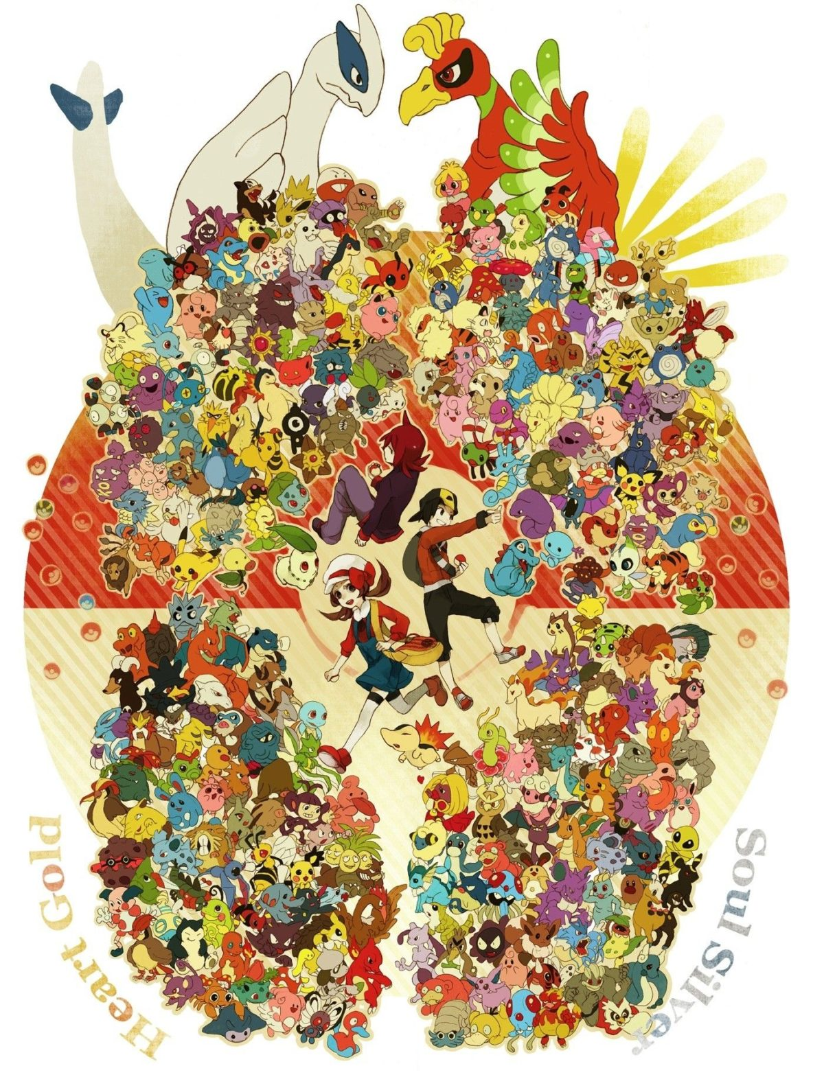 pokemon lugia hooh 1400×1830 wallpaper High Quality Wallpapers,High …