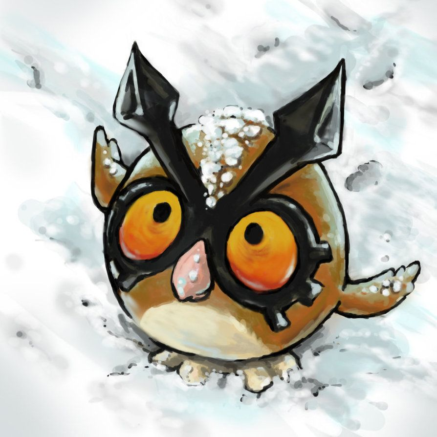Hoothoot in the Snow by Puppy-Chow on DeviantArt
