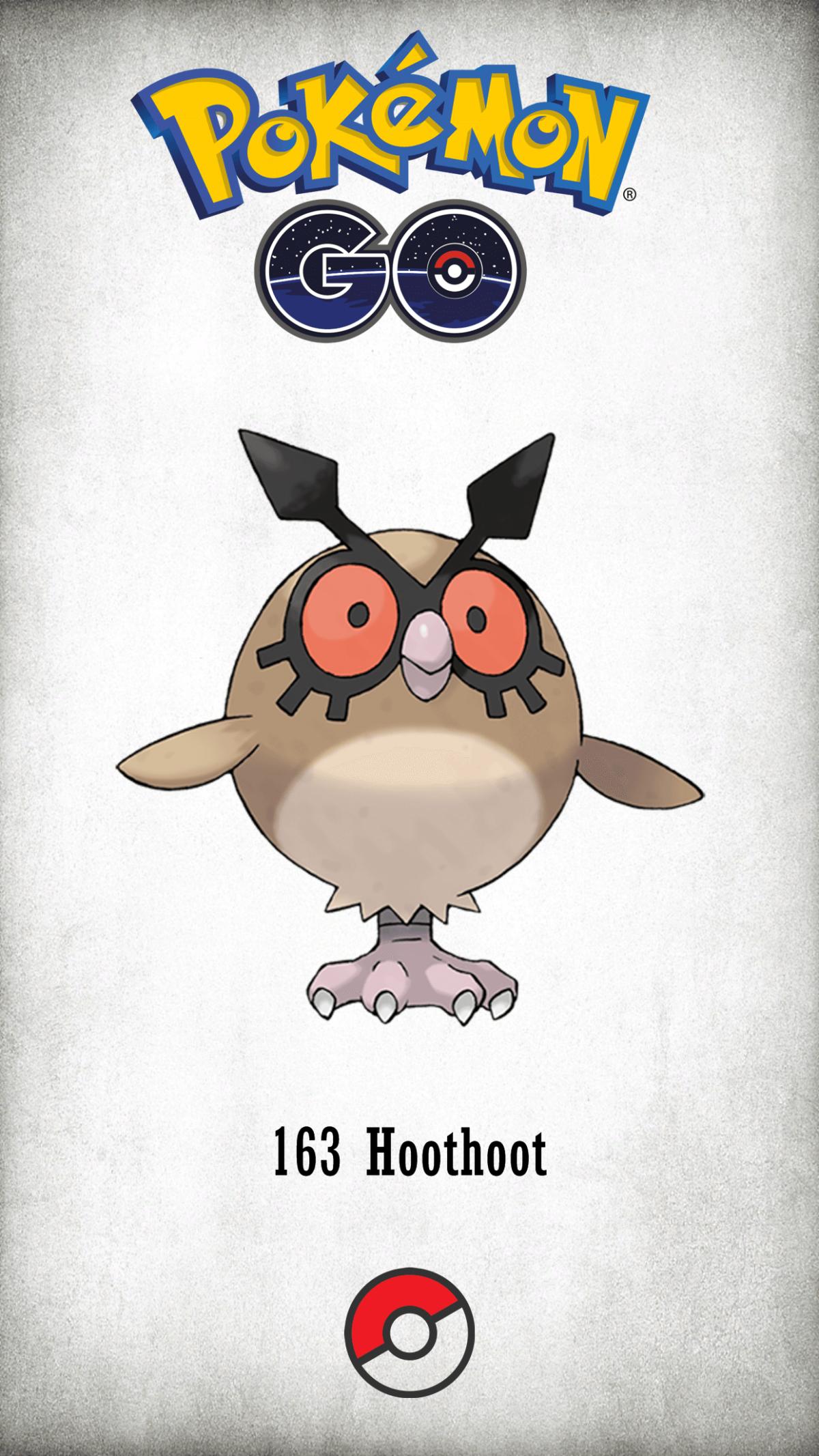 163 Character Hoothoot | Wallpaper