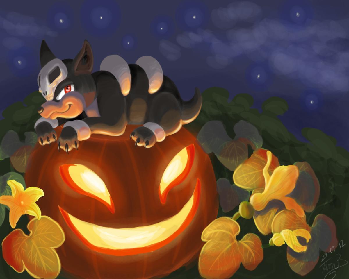 Halloween Houndour ^^ by TamilaB on DeviantArt