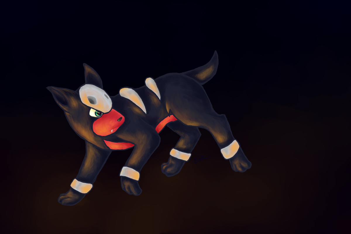 Houndour – art trade by Crashed-on-the-moon on DeviantArt