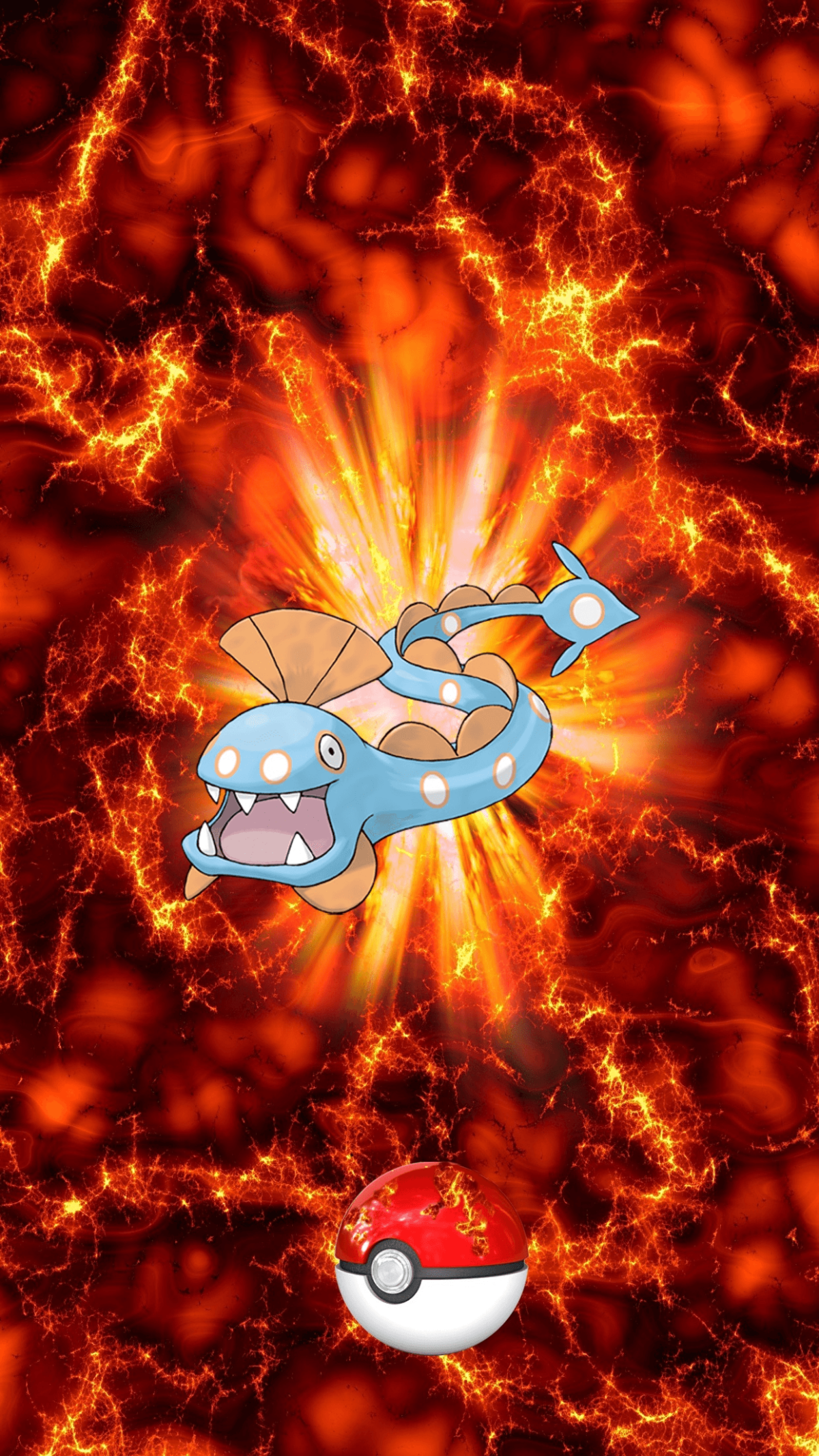 367 Fire Pokeball Huntail Unknown Clamperl | Wallpaper