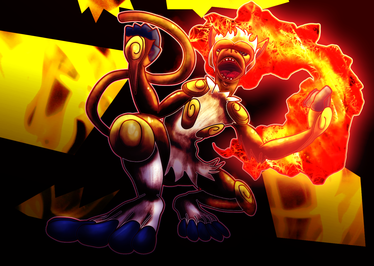 Raging Infernape by xDarkSpace on DeviantArt