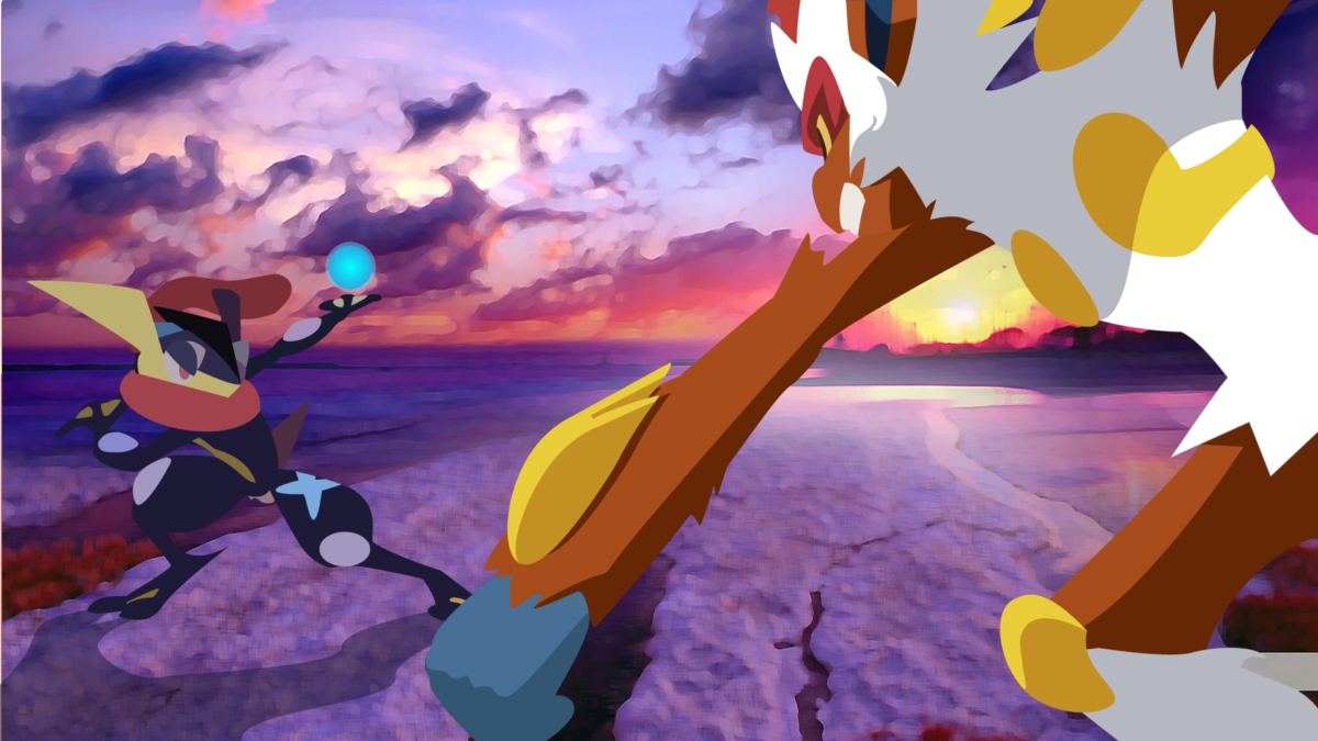 Greninja-vs-Infernape-Sunset by DrewJayJohnson on DeviantArt