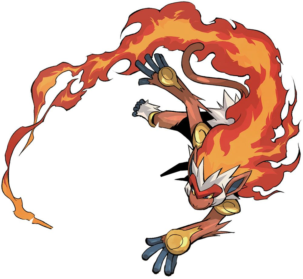 Infernape – Characters & Art – Pokémon Conquest