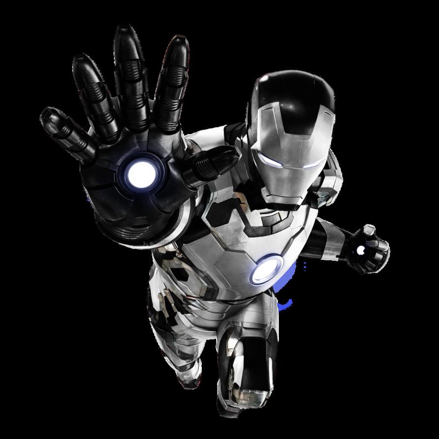 Iron Man Mk. 42 Black+White by 666Darks on DeviantArt