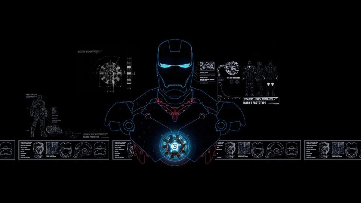 Iron Man Mark 6 Prototype Schematics Wallpaper #
