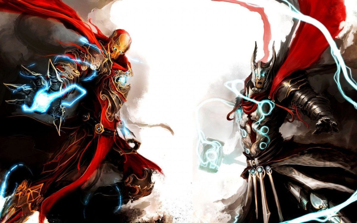 1680×1050 Thor and ironman Wallpaper