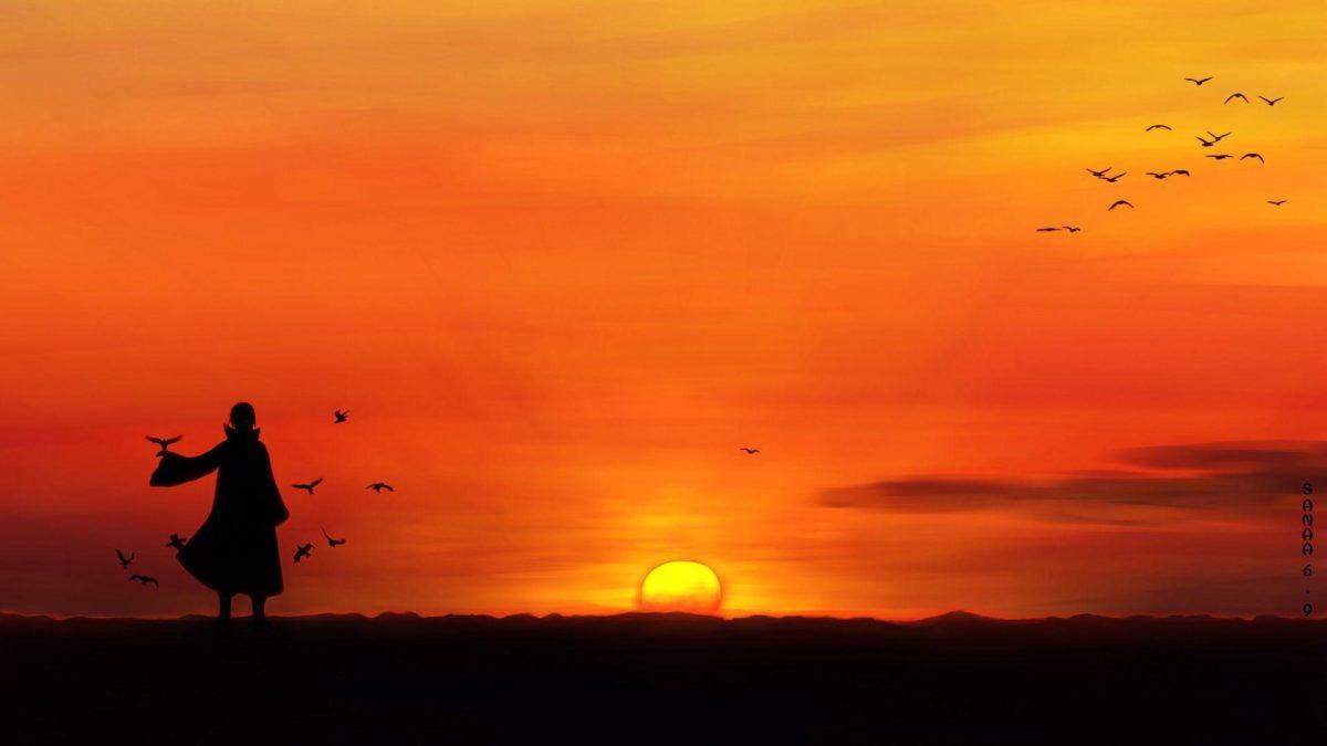 Itachi Uchiha Sunset 8i Wallpaper HD