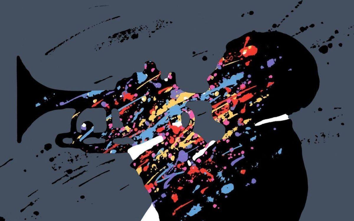 1280×800 Multicolor Jazz Singer Artwork desktop PC and Mac wallpaper